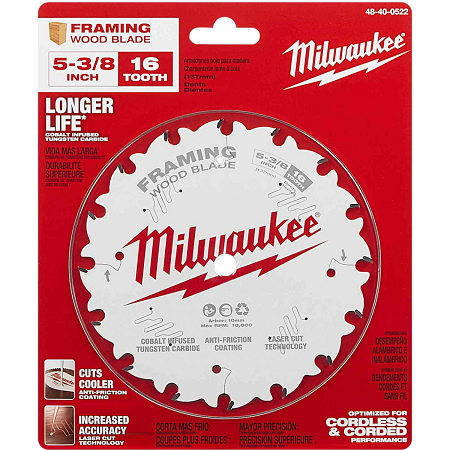 Milwaukee 5-3/8″ x 16T Framing Blade