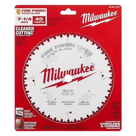 Milwaukee 7-1/4″ x 40T Finishing Blade