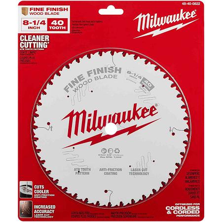 Milwaukee 8-1/4″ x 40T Finishing Blade