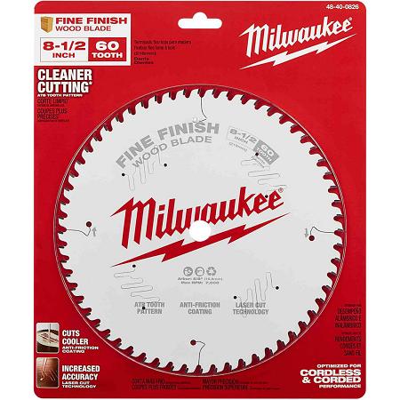 Milwaukee 8-1/4″ x 60T Finishing Blade