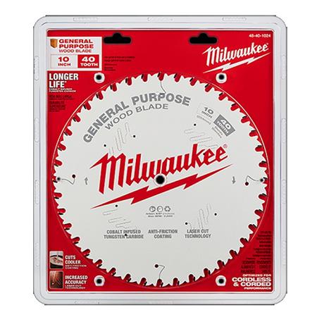Milwaukee 10″ x 40T General Purpose Blade