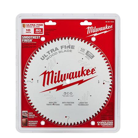 Milwaukee 10″ x 80T Ultra Finishing Saw Blade
