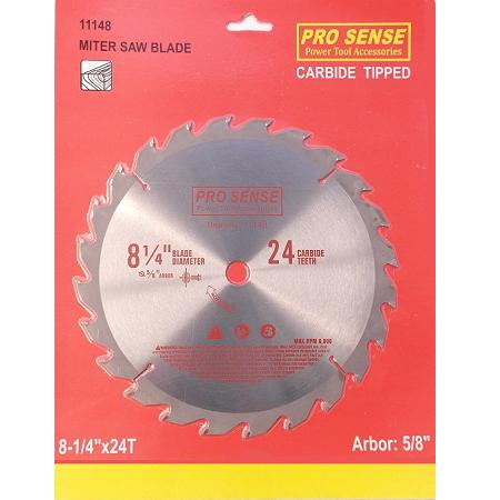 Pro Sense 8-1/4″ x 24T Carbide Tipped Circular Saw Blade