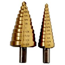 Centrix 2 Piece Titanium Coated HSS Step Drill Bit