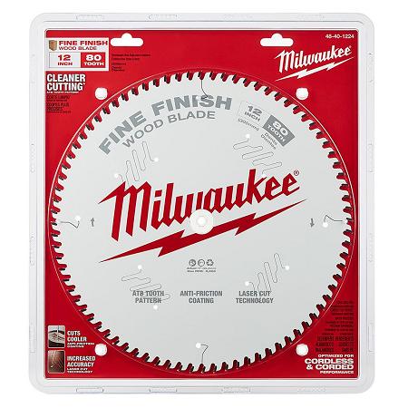 Milwaukee 12″ x 80T Fine Finishing Saw Blade