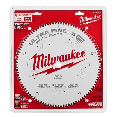 Milwaukee 12″ x 100T Ultra Fine Finishing Saw Blade