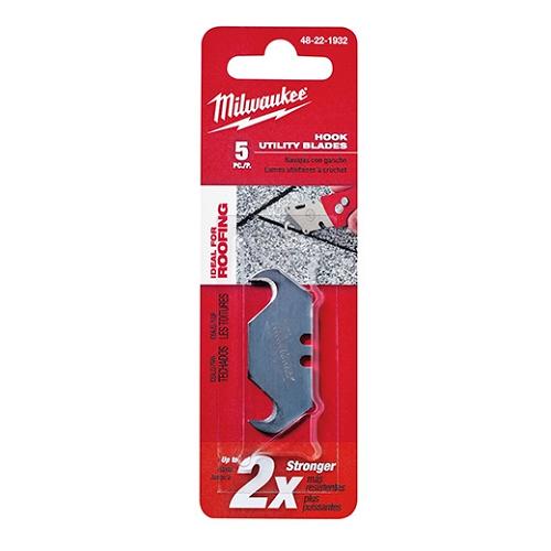 Milwaukee 5 Pack Hook Utility Knife Blades