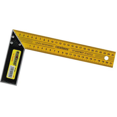 Crownman 6″ Try Square with Aluminum Handle