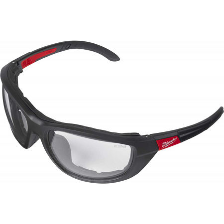 Milwaukee Clear High Performance Safety Glasses w/Gasket
