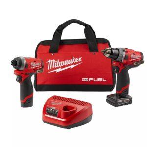 Milwaukee M12 FUEL 1/2″ Hammer Drill & 1/4″ Impact Driver Combo Kit