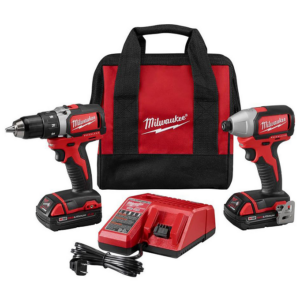 Milwaukee M18 Brushless 1/2″ Hammer Drill & 1/4″ Impact Driver Combo Kit