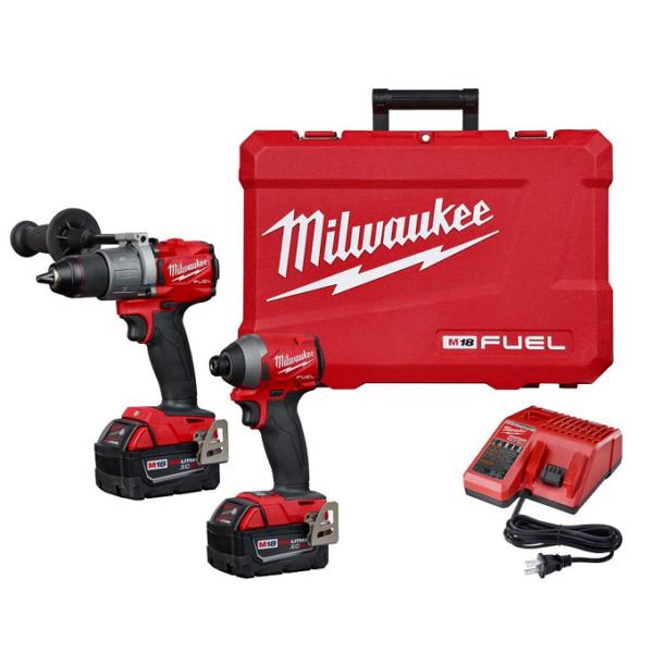 Milwaukee M18 FUEL 1/2″ Hammer Drill & 1/4″ Impact Driver Combo Kit