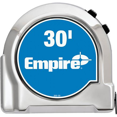 Empire 30′ Chrome Tape Measure