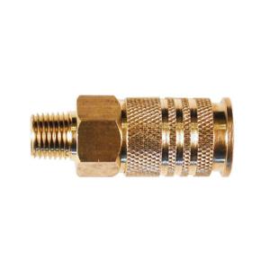 KC Pneumatic 1PC American Type Coupler w/ 1/4NPT Male Threaded Brass