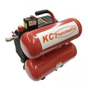 KC 2HP 4.3 Gallon Oil Twin Stack Compressor
