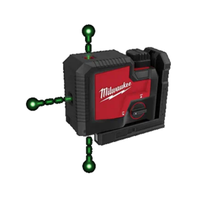 Milwaukee USB Rechargeable Green 3 Point Laser Kit—Coming Soon
