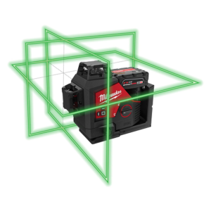 Milwaukee M12 Green 3 x 360° Laser Kit—Coming Soon