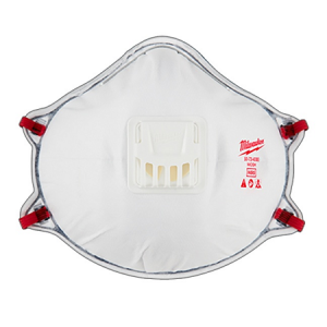 Milwaukee Professional N95 Valved Respirator w/Gasket  3Pack