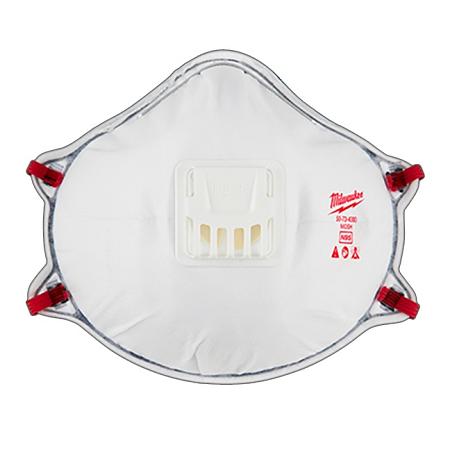 Milwaukee Professional N95 Valved Respirator w/Gasket  3Pack