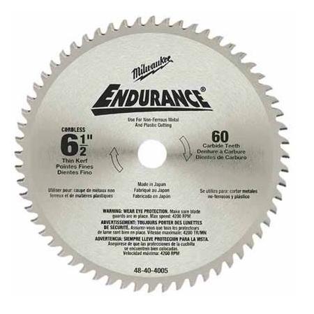Milwaukee 6-1/2″ x 60T Metal Cutting Saw Blade