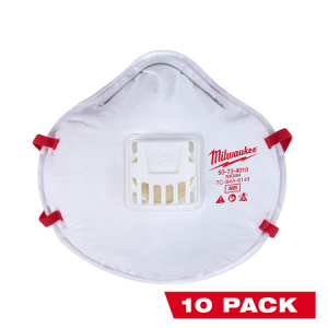 Milwaukee Professional N95 Valved Respirator 10Pack