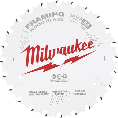 Milwaukee 6-1/2″ x 24T Framing Blade