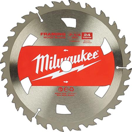Milwaukee 7-1/4″ x 24T Carbide Framing Blade