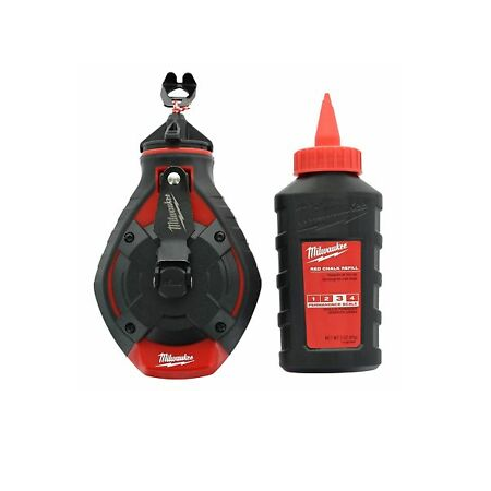 Milwaukee 100ft Bold Line Reel with Red Chalk