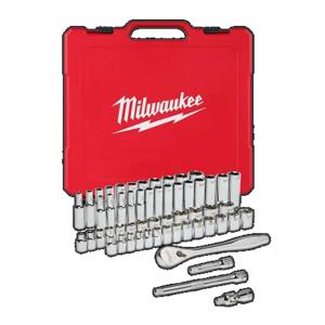 Milwaukee 1/2″ Drive 47 Piece Metrix/SAE Ratchet and Socket Set