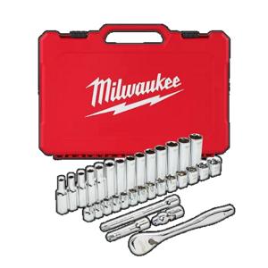 Milwaukee 1/2″ Drive 28 Piece Metric Ratchet and Socket Set