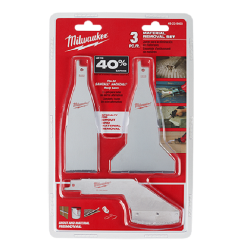 Milwuakee Material Removal Blade Set