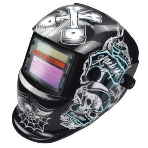 CENTRIX White Skull Auto Welding Helmet