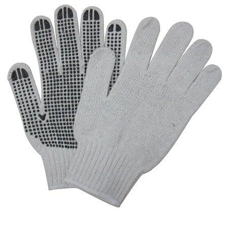 Pro Sense Cotton/Polyester Gloves with PVC Dots