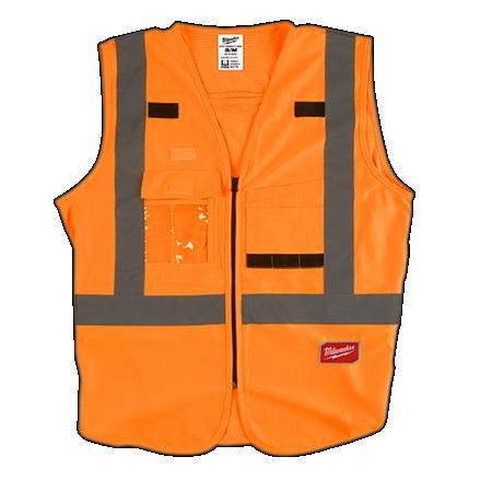 Milwaukee Orange High Visibility Vest Small/Medium
