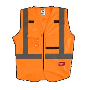 Milwaukee Orange High Visibility Vest 2XLarge/3XLarge