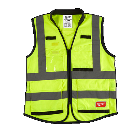 Milwaukee Yellow High Visibility Vest Small/Medium