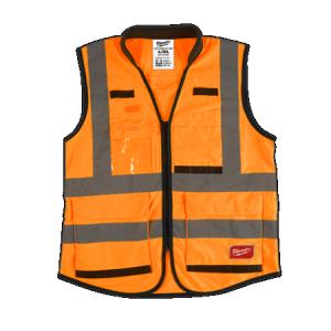 Milwaukee Orange High Visibility Vest Large/XLarge
