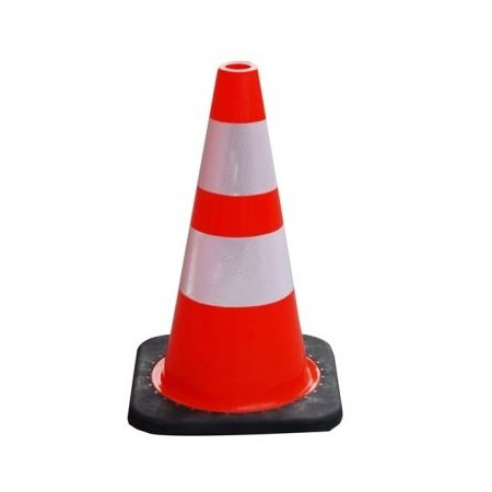 18″ PVC Traffic Cone with Reflective Tape