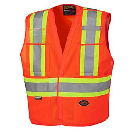 Pioneer Tricot Poly Interlock Orange Safety Vest