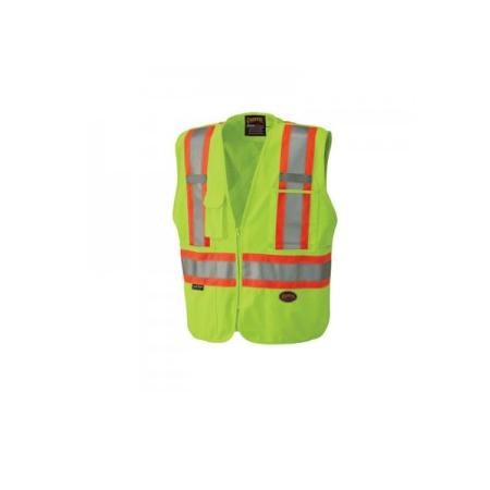 Pioneer Tricot Poly Interlock Mesh Back Hi-Viz Yellow/Green Safety Vest