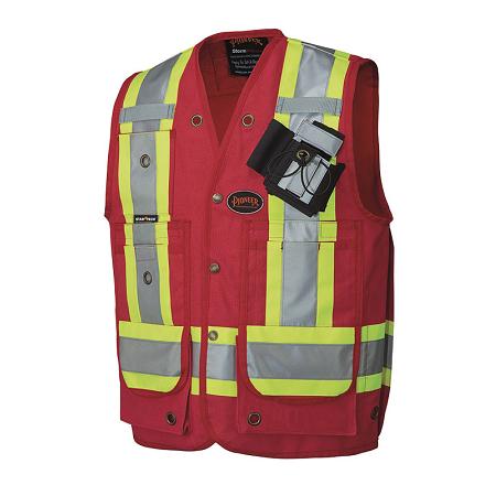 Pioneer Cotton Surveyor's Red Safety Vest
