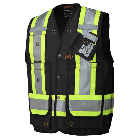 Pioneer Cotton Surveyor's Black Safety Vest