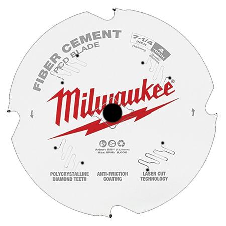 Milwaukee 7-1/4″ x 4T Fiber Cement Saw Blade
