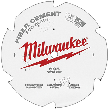 Milwaukee 10″ x 6T Fiber Cement Saw Blade