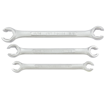 JET 3 Piece Metric Flare Nut Wrench Set