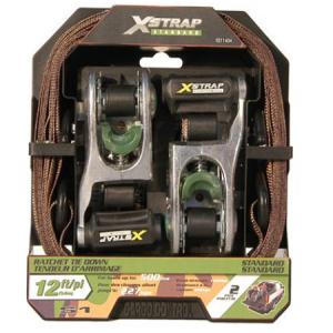 X-Strap 1″ x 12″ 2 Piece Ratchet Tie Down