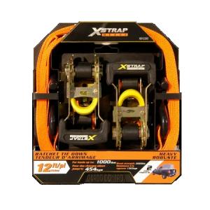 X-Strap 1-1/16″ x 12″ 2 Piece Ratchet Tie Down