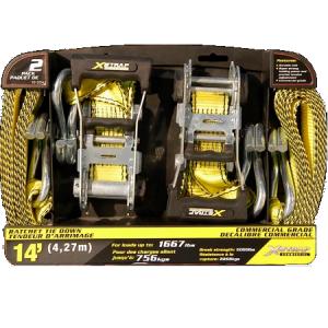 X-Strap 1-1/2″ x 14″ 2 Piece Ratchet Tie Down