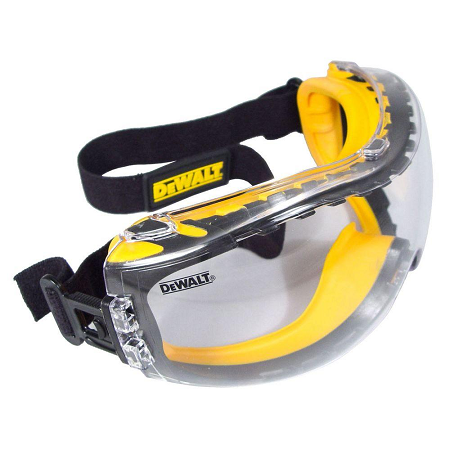 DeWalt Clear Concealer Goggle with Anti Fog