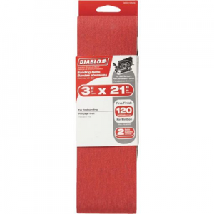 DIABLO 3 x 21″ 120 Grit Sanding Belt
